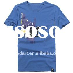 TT136 100 cotton t shirt blue plain shirt boys shirts plain t shirts for printing