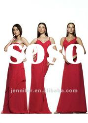 Wholesale & Retail Custom-made Long Red Bridesmaid Dresses (ABG191)