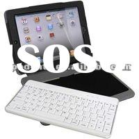 Wireless Bluetooth keyboard case cover For iPad 2 PU leather and silicon material