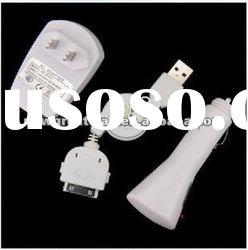 (3 in 1 set) Travel Charger + Car Charger + USB Cable NGD086