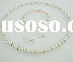 fashion freshwater pearl necklace set