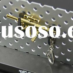 fashion gun cross fire promotion alloy keychain mobile phone key chain