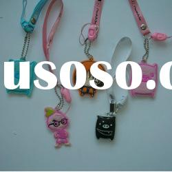 fashion key chain string doll cell phone accessories keychain