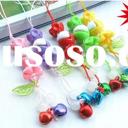fashion rope bell mobile phone key chain promotional gift items