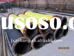 high quality flange suction and discharge rubber hose