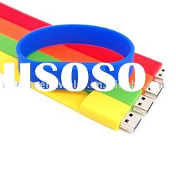 high quality promotional gift barcelet usb flash drive