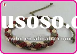 hipple boho braided multi colored cotton cord bracelet(B101219)