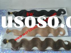 italy glue hair extension. pre-bond hair extension and top quality hair extension