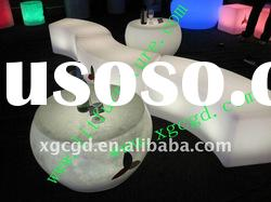 led garden furniture round bench/led waiting benches/led plastic bench- GR-PL13