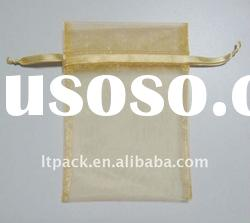 organza bag with satin ribbon