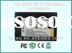 replacement recharge digital li-ion polymer Battery for SONY NP-FH100 High Quality