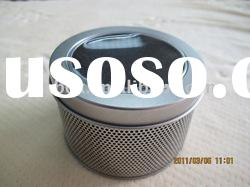 size:90*60mm with round clear window plaint round tin box