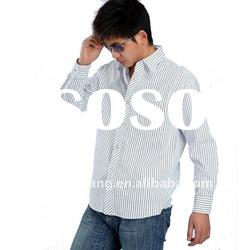 stripe popular new style men's shirts for young