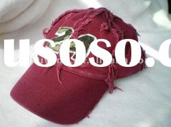 washed baseball cap with embroidered logo