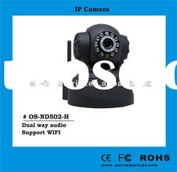 wireless IP security camera support pan/tilt, with IR 10m