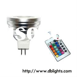 16 Color RGB LED spotlight bulbe+Remote control GU10 3W