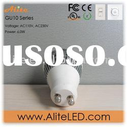6W super bright dimmable GU10 LED spot light