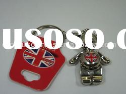 Customize Metal Teddy Bear Key Holder Metal Key Chain Keyrings