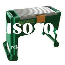 Outdoor Garden Plastic kneeler bench base with rubber stopper Soft EVA pads for garden use