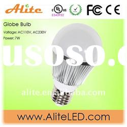 ul led 7W bulb light with 600lumen for warm white
