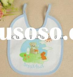 100% cotton terry with printed cute animal baby bib