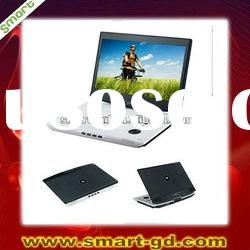 10.2 inch portable DVD player,270 degrees swivel screen,With TV function