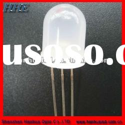 10mm blue green bi-color dip led diodes common cathode