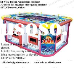 2011 coin operated Happy fish 3D video game machine