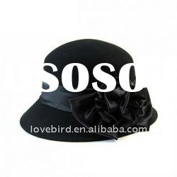 2011 winter new hot-sell hat design 100% pure wool printed cap for lady with OEM Service
