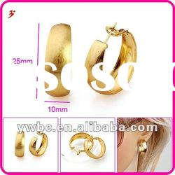 2012 fashion jewelry gold plated brass earring (E630533)