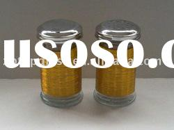 2pcs 200ml glass vinegar bottle with metal lid