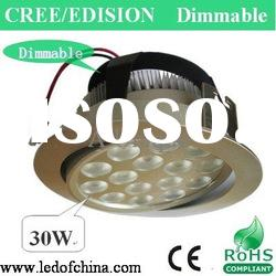 30W high power dimmable led downlight globes