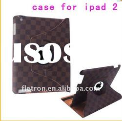 360 degree rotation Swivel Smart Cover Leather Case Rotating Stand for iPad 2 3G WiFi