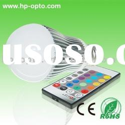 3W RGB LED bulb with remote controller