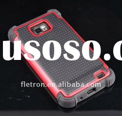 3 layers Red+Black Cambo Case Silicone Case For Samsung i9100 i777 Galaxy S2