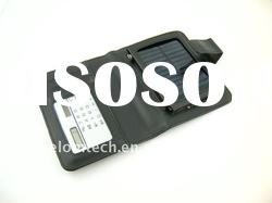 5V portable wallet size smart solar battery charger with calculator