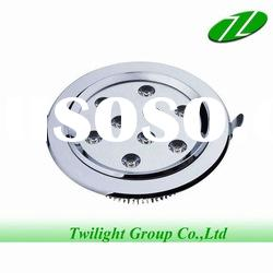 9W modern LED Ceiling Lamps/High power 9W silver aluminum basement led ceiling down light
