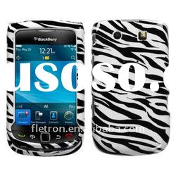 Blac NEW Front Back ZEBRA HARD SKIN CASE COVER For BLACKBERRY TORCH 9800
