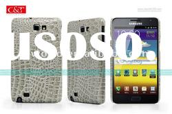 Black Croco Leather Hard Back Case Cover For Samsung Galaxy Note GT-N7000 i9220