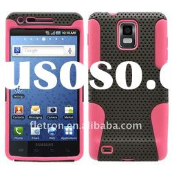 Black With Pink Silicone +Hole Hard 2 in 1 Case For SAMSUNG INFUSE 4G i997