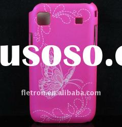 Butterfly Hot Pink Skin Hard Back Case Cover For Samsung i9000 Galaxy S