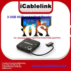 Combo 3 USB HUB and 4 Card Reader For Samsung Galaxy Tab P7310 P7300 P7500 and P7510