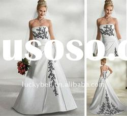 Conservative Discount Embroidered Sleeveless Wedding dress