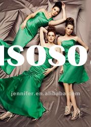 Custom-made Green Modest Wedding Bridesmaid Dresses (ABG218)