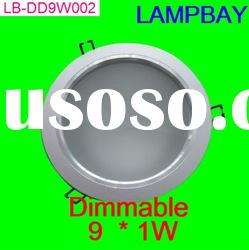 Dimmable EPISTAR BRIDGELUX LED down light 9W with cover fast shipping best price good quality
