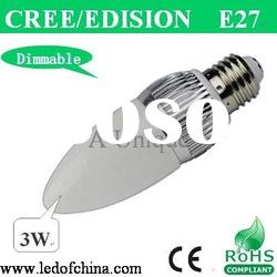 E17 Dimmable High power LED bulb light 3W
