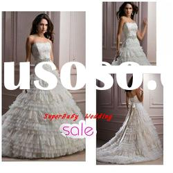 Fashion W-1128 strapless lace ball gown bridal wedding dress