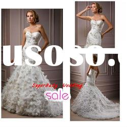 Fashion W-1130 strapless lace ball gown bridal wedding dress