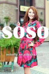 Fashion ladies lovely floral wool coat 2012