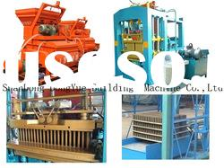 Full Automatic concrete hollow block manufacturing machine production line